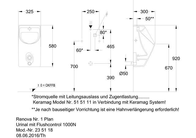 Renova Nr 1 Plan Urinal M Fc1000 N Ihr Sanitarinstallateur Aus
